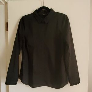 APT 9 black button down shirt